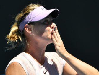 Scharapowa in der dritten Runde der Australian Open