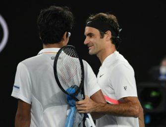 Chung gibt auf: Federer im Finale gegen Cilic