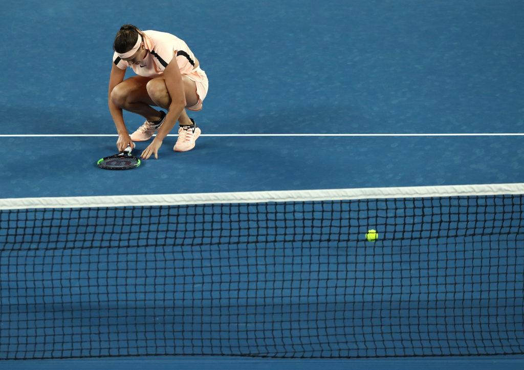 Bei der Australian Open musste Sabalenka sich in einem knappen Spiel in Runde eins geschlagen geben