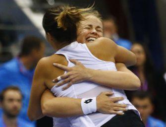 Doppel-Drama: Maria/Grönefeld führen Deutschland ins Fed Cup-Halbfinale