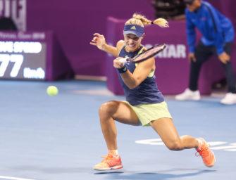 Viertelfinale! Kerber besiegt Fissette-Ex knapp