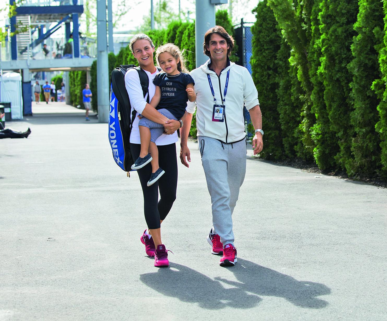 Familie Maria bei den US Open 2017
