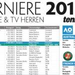 Tennis-Turnierkalender 2018