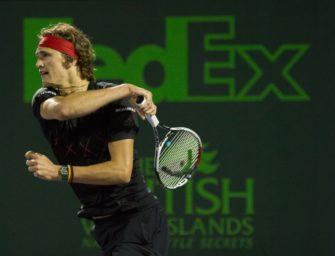 Alexander Zverev im Miami-Halbfinale