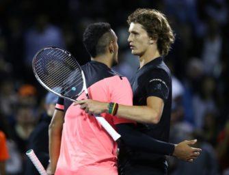 Starker Auftritt gegen Kyrgios: Zverev im Viertelfinale von Miami