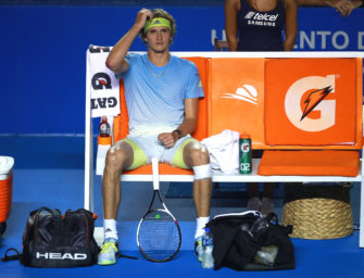 Schmerzen am Knie: Zverev verliert gegen del Potro