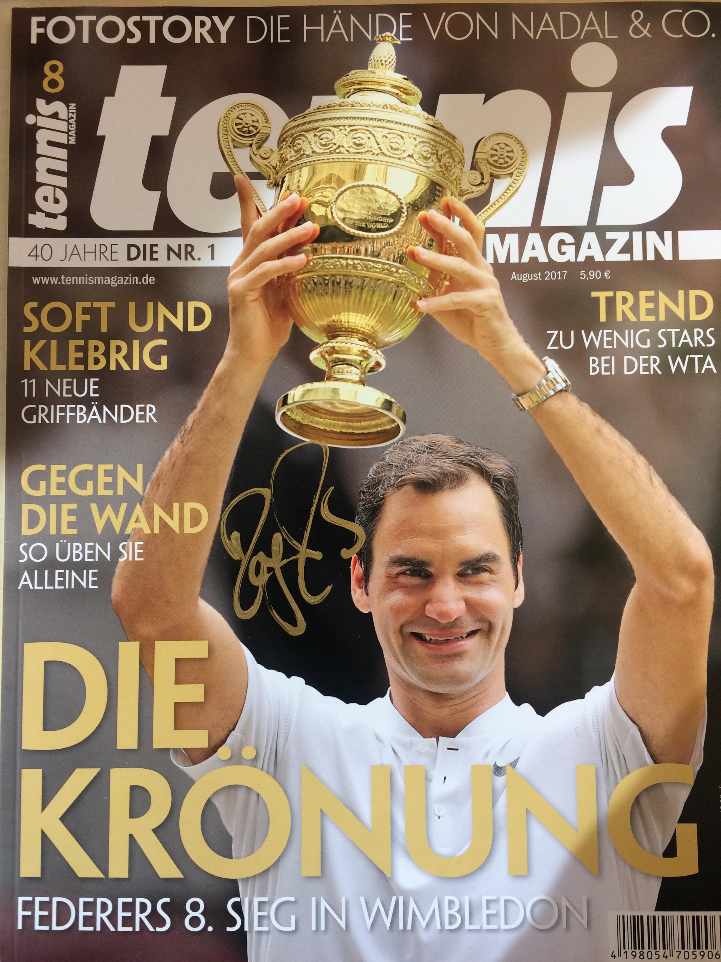 Roger Federer-Autogramm