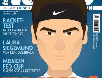 tennis Magazin 4/2018: Federer – King Roger im Interview