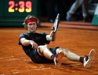 Alexander Zverev in Monte Carlo: Halbfinaleinzug zum 21. Geburtstag