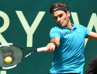 Federer zum 14. Mal in Serie im Halbfinale