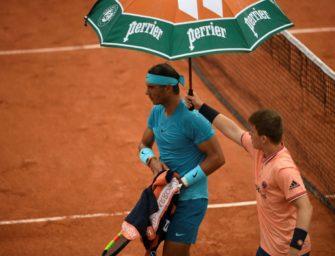 French Open: Nadal-Match wegen Regens unterbrochen