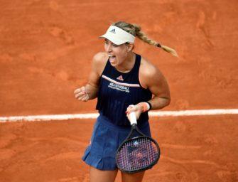 Kerber in Paris erstmals seit sechs Jahren im Viertelfinale