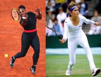 Serena Williams im Catsuit: Schon 1985 ging es hauteng zu