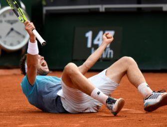 Italiener Cecchinato nach Sieg gegen Djokovic im Halbfinale