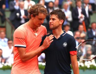 French Open: Angeschlagener Zverev im Viertelfinale chancenlos gegen Thiem