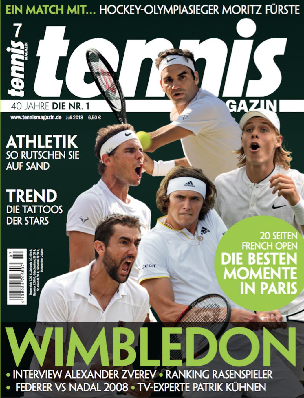 Tennis Magazin 7 2018  Wimbledon – das Highlight des Jahres - tennis ... 2409a2691dd98