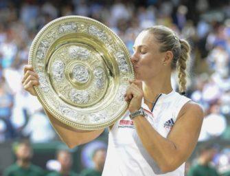 Kerber nach Wimbledonsieg die Nummer vier der Welt