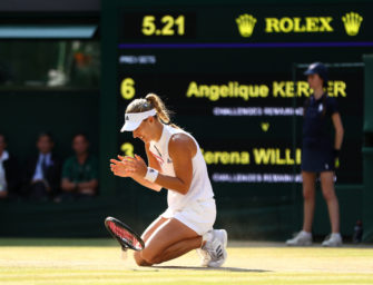 Wimbledonsieg: Angie – du hast die Schale!