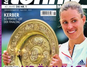 Tennis Magazin 8/2018: Wimbledonsiegerin Angelique Kerber