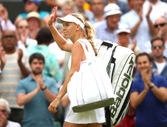 Podcast aus Wimbledon: Abschied von Caroline Wozniacki