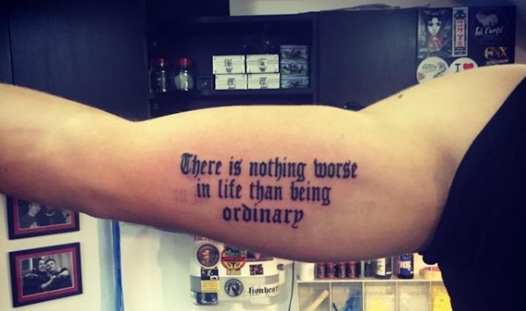 Borna Coric Tattoo