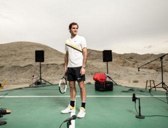 Wilson verlost: Einmaliges Erlebnis mit Roger Federer
