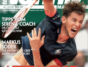 Tennis Magazin 9/2018: Dominic Thiem im Interview