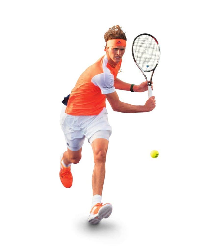 Rückhand-Volley Alexander Zverev