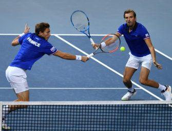 Davis Cup: Titelverteidiger Frankreich erster Finalist