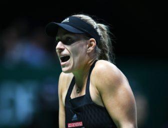 WTA-Finale: Kerber nach glatter Niederlage ausgeschieden