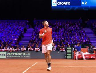 Davis-Cup-Finale: Coric bringt Kroatien in Frankreich in Führung