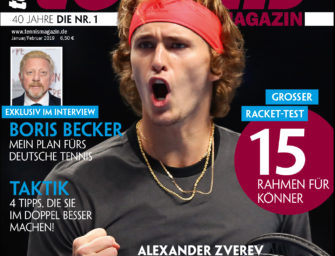 Tennis MAGAZIN 01-02/2019: Alexander Zverev – Jagd auf die Nummer eins