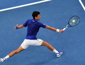 Djokovic ohne Probleme zum Auftakt in Melbourne