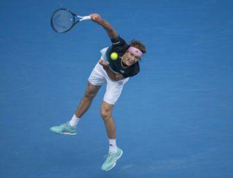 Zverev erstmals im Achtelfinale der Australian Open