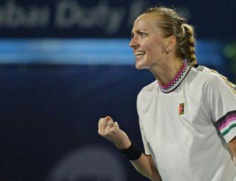 Dubai: Kvitova im Finale gegen Bencic