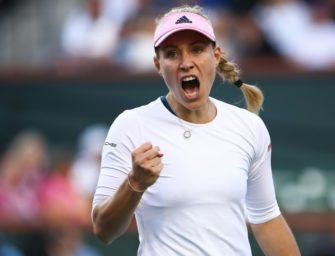 Indian Wells: Kerber schlägt auch Venus Williams und steht im Halbfinale