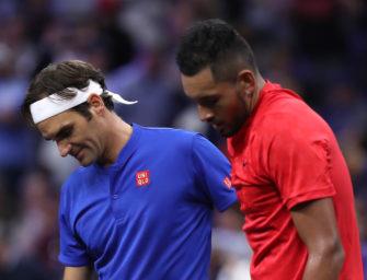 Schlagabtausch mit Nadal: Federer springt Kyrgios zur Seite