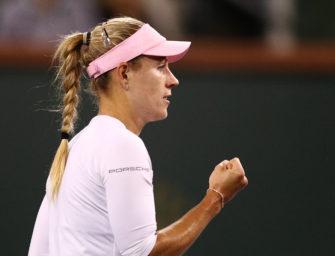 Indian Wells: Kerber nach Kraftakt im Viertelfinale