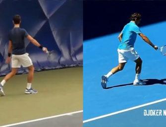 Flop des Tages: Djokovic und Federer tauschen Rückhand