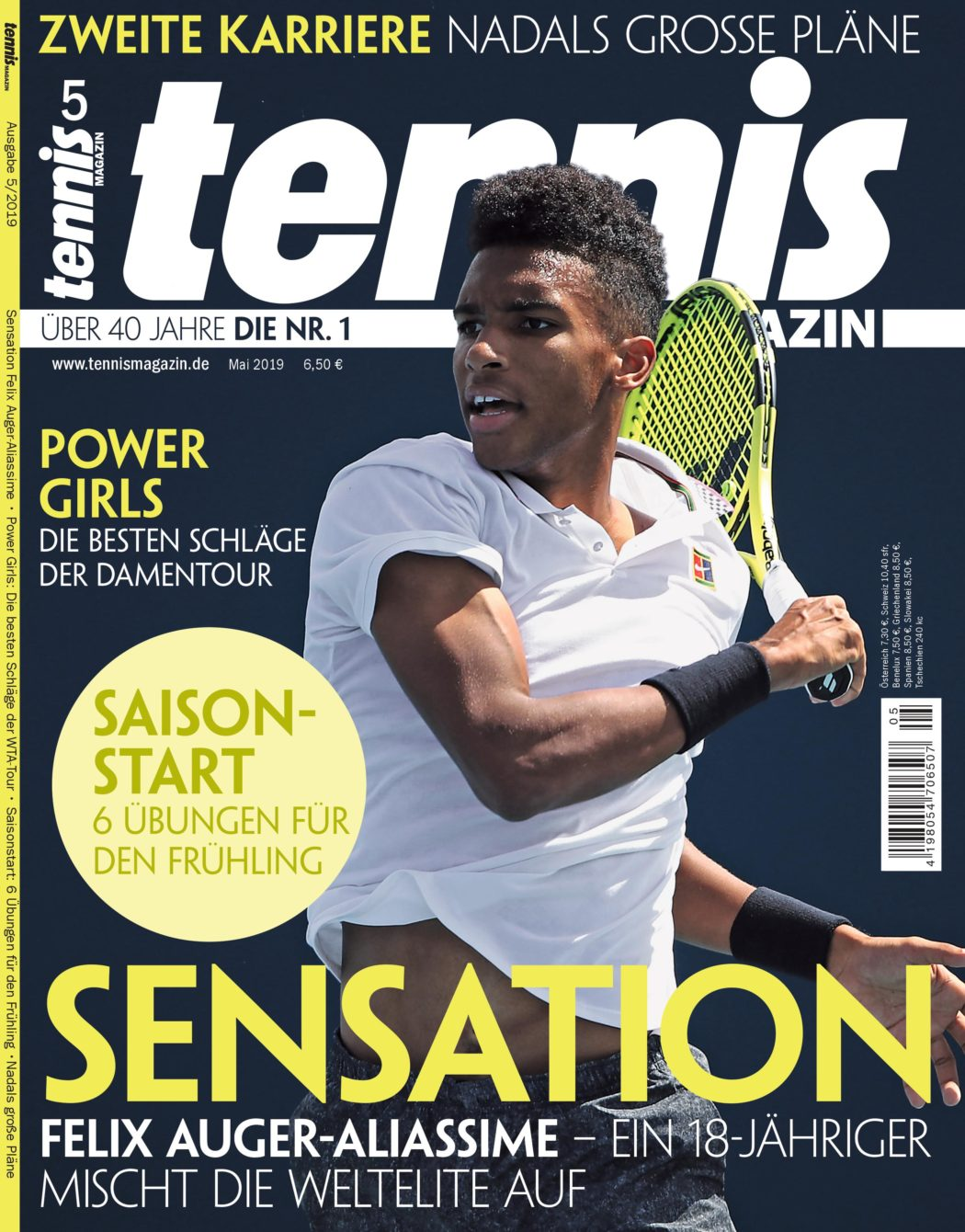 tennis MAGAZIN Cover 5/2019