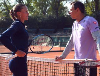 Erfolgscoach Bajin betreut Französin Mladenovic
