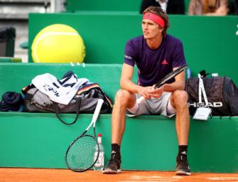 Wieder ein Rückschlag: Zverev verliert Nerven und Punkte