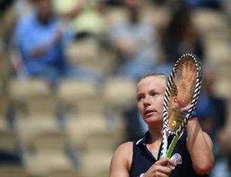 French Open: Mitfavoritin Bertens gibt auf