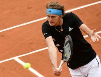 French Open: Zverev mühelos, auch Struff in Runde 3