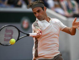 400. Grand-Slam-Match: Federer im Achtelfinale von Paris