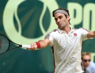 Federer im Halle-Finale gegen Zverev-Bezwinger Goffin