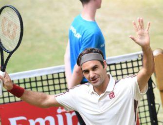 Federer gewinnt zehnten Titel in Halle