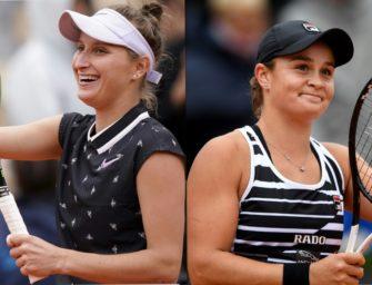 French Open: Barty und Vondrousova im Finale