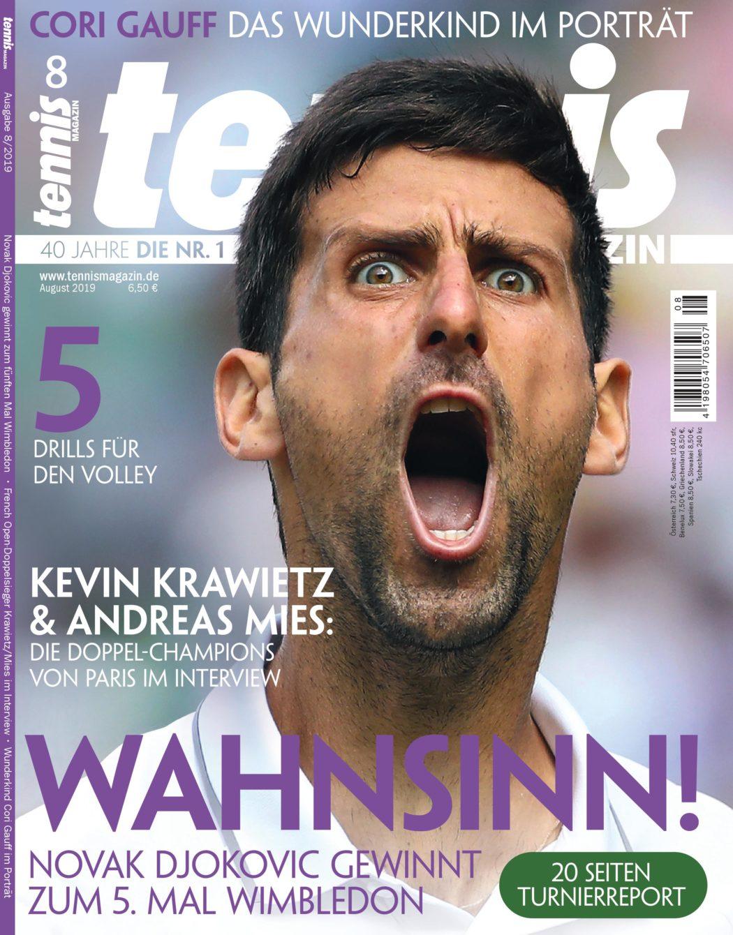 Tennis Magazin 8/2019