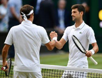 """""""Klassiker"""" im Tennis: 48. Duell zwischen Djokovic und Federer"""